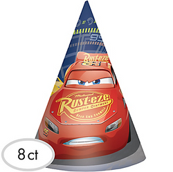 Cars 3 Party Hats 8ct