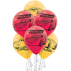 Cars 3 Balloons 6ct
