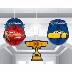 DISNEY CARS 3 Honeycomb Decoration