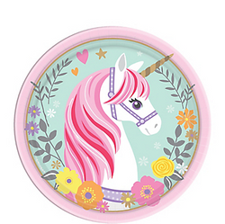 Magical Unicorn Dessert Plates 8ct