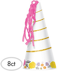 Magical Unicorn Party Hats 8ct