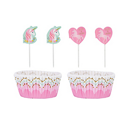Magical Unicorn Cupcake Decorating Kit for 24