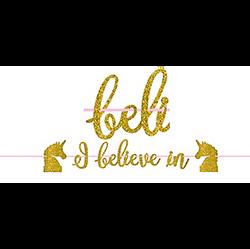 Glitter Gold Magical Unicorn Letter Banner