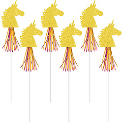 Glitter Magical Unicorn Wands 6ct