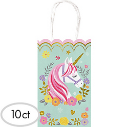 Magical Unicorn Kraft Bags 10ct