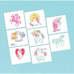 Magical Unicorn Temporary Tattoos (1 sheet)