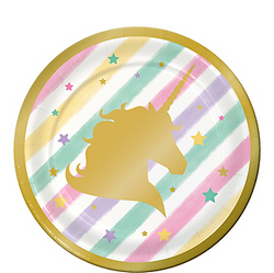 Sparkling Unicorn Dessert Plates 8ct