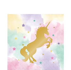 Sparkling Unicorn Lunch Napkins 16ct