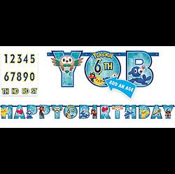Pokemon Core Birthday Banner Kit