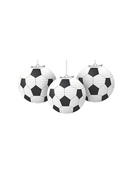 Soccer Paper Lanterns 3ct