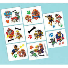 Paw Patrol Tattoos 16 Count
