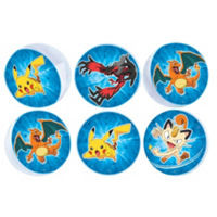 Pikachu & Friends Bounce Balls 6 Count