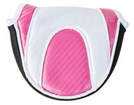 Naples Bay Pink & White Mallet Putter Cover