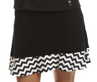 Golftini Black and White Chevron GT Tech Pull On Skort