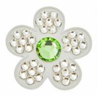 Bonjoc Ivory Flower Swarovski Crystal Ball Marker