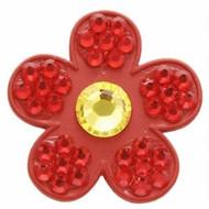 Bonjoc Ruby Flower Swarovski Crystal Ball Marker