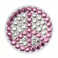 Bonjoc Pink Peace Sign Swarovski Crystal Ball Marker