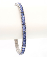 Bonjoc Tanzanite Swarovski Crystal Stretch Golf Bracelet