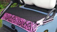 Quilted Pink Zebra Cart Seat Cover