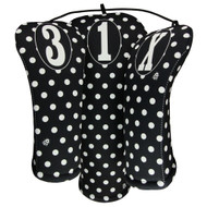 Beejo Black and White Polka Dot Club Cover Set