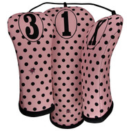 Beejo Pink Polka Dot Club Cover Set