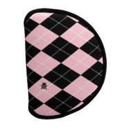 Beejo Pink Argyle Mallet Putter Cover