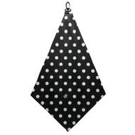 Beejo Black and White Polka Dots Golf Towel