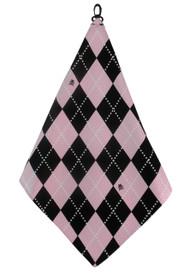 Beejo Pink Argyle Golf Towel