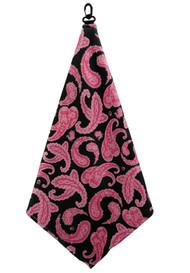Beejo Pink Paisley Golf Towel