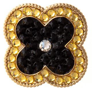 Bonjoc Black Hera Clover Swarovski Crystal Ball Marker