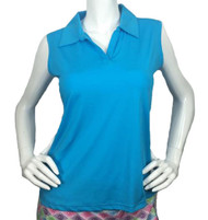 2GG Blue Seeveless Golf Polo - Size: L & XL