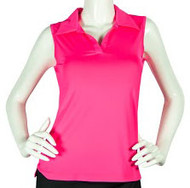 2GG Hot Pink Seeveless Golf Polo - Size: XXL