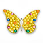 Bonjoc Yellow Butterfly Swarovski Crystal Ball Marker