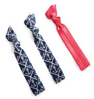 All For Color Nautical Hair Ties - Set of 3