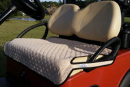 Quilted Tan Cart Seat Cover