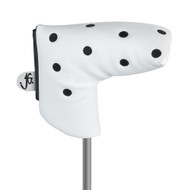 Just4Golf White Dot Blade Putter Cover