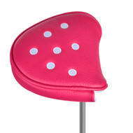 Just4Golf Pink Dot Mallet Putter Cover