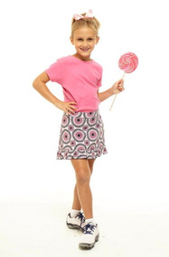 Golftini Girl Party Time Junior Golf Skort