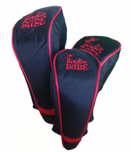 Birdie Babe Red and Black Club Cover Set