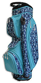 All For Color Indigo Batik Ladies Golf Bag