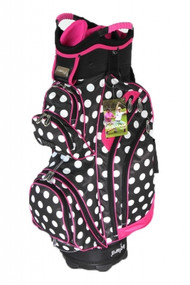 Molhimawk Pink Polka Dot Ladies Golf Bag