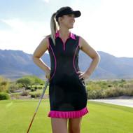 2GG Black and Pink Ruffle Golf Dress