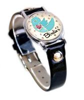 Birdie Ball Marker Bracelet with Black Band