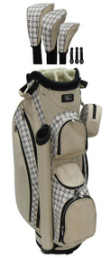RJ Sports LB-960 Sand Plaid Ladies Golf Bag