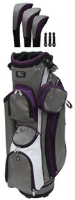 RJ Sports LB-960 Grey & Purple Ladies Golf Bag