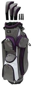 RJ Sports LB-960 Grey & Purple Ladies Golf Bag
