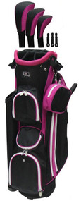 RJ Sports LB-960 Hot Pink Ladies Golf Bag