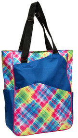 Glove It Electric Plaid Tennis Tote Bag