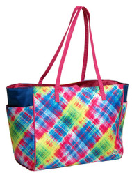 Glove It Electric Plaid Tote Bag