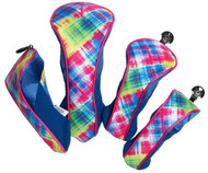 Glove It Electric Plaid Golf Club Covers